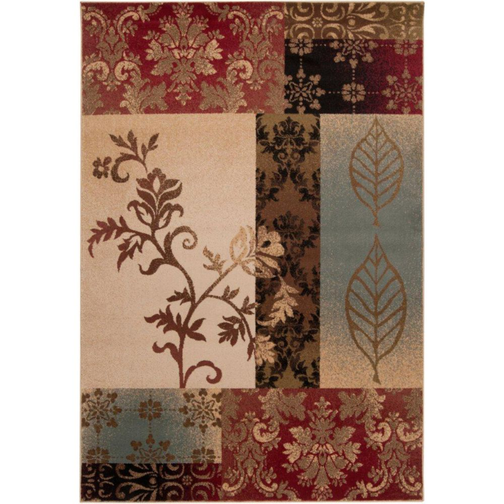 Artistic Weavers Wetaskiwin Tea Leaves Red 6 ft. 6-inch x 9 ft. 8-inch Indoor Transitional Rectangular Area Rug