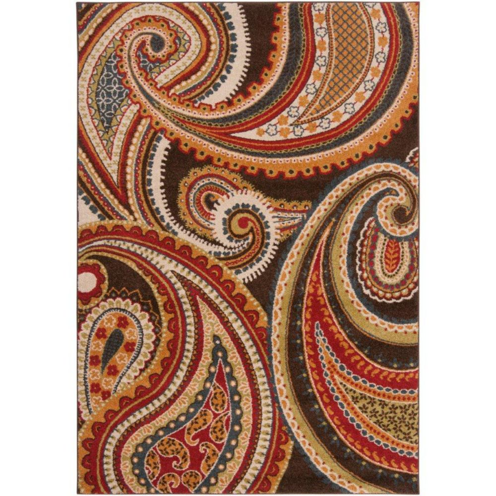 Artistic Weavers Ychoux Red 5 ft. 3-inch x 7 ft. 6-inch Indoor Transitional Rectangular Area Rug