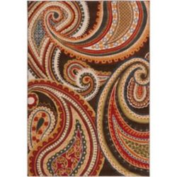 Artistic Weavers Ychoux Red 6 ft. 7-inch x 9 ft. 6-inch Indoor Transitional Rectangular Area Rug