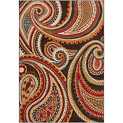 Artistic Weavers Ychoux Red 7 ft. 10-inch x 10 ft. 6-inch Indoor Transitional Rectangular Area Rug