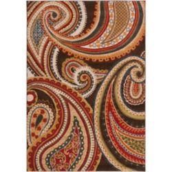 Artistic Weavers Carpette d'intérieur, 7 pi 10 po x 10 pi 6 po, style transitionnel, rectangulaire, rouge Ychoux