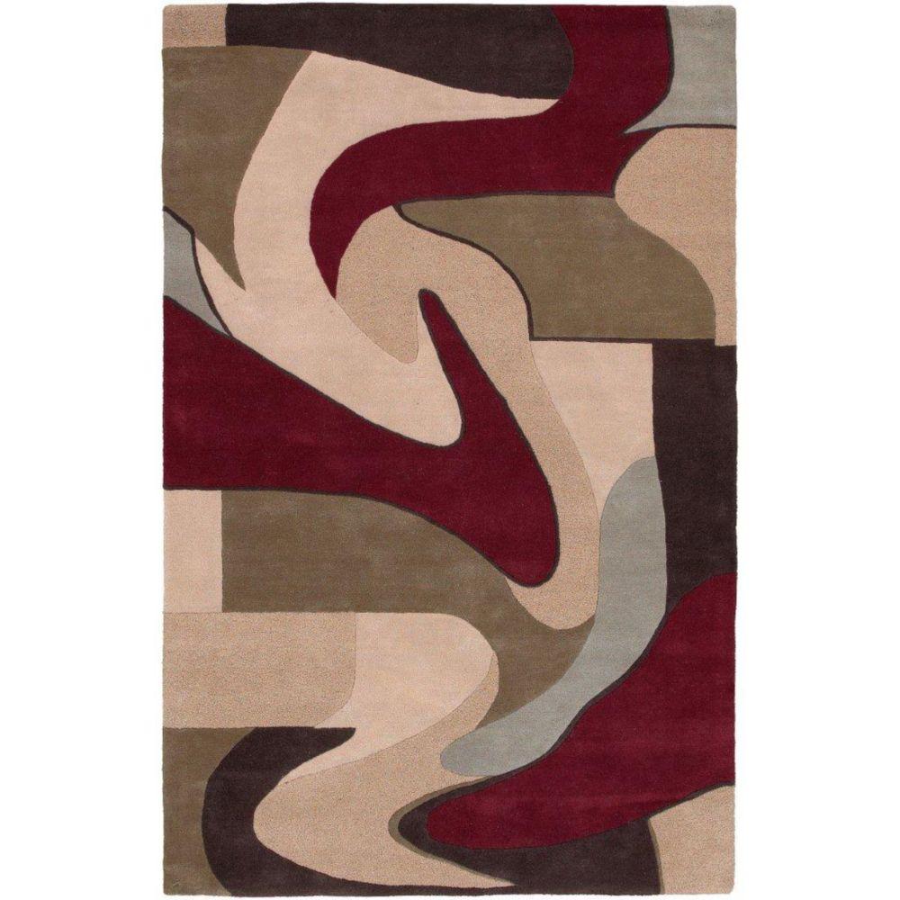 Yenne Beige New Zealand Wool 9 Feet x 13 Feet Area Rug Yenne-913 Canada Discount