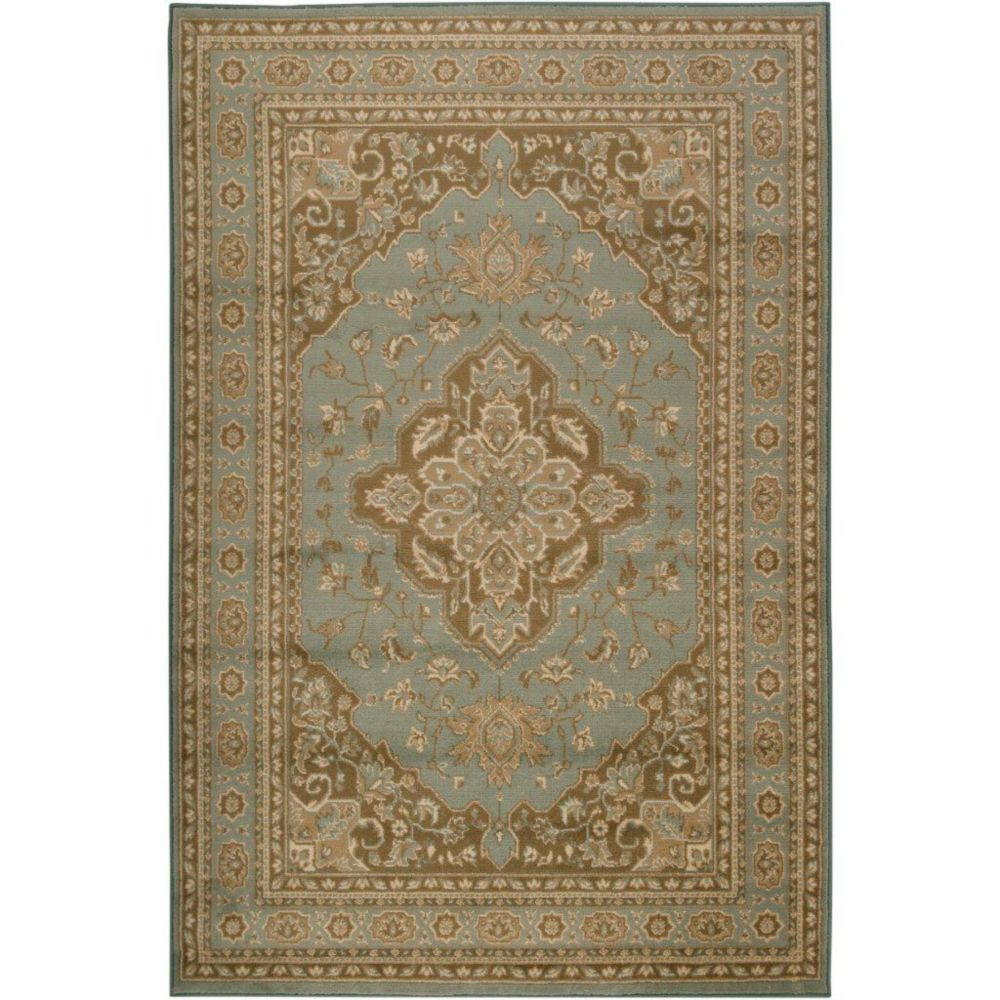 Yevres Aqua Polypropylene  - 5 Ft. 3 In. x 7 Ft. 6 In. Area Rug