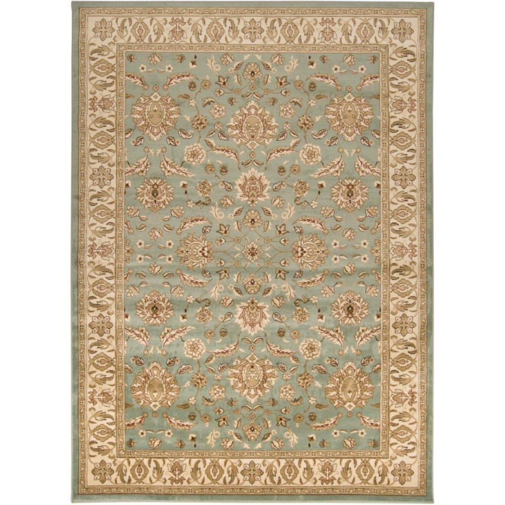 Zonza Seafoam Polypropylene  - 5 Ft. 3 In. x 7 Ft. 6 In. Area Rug