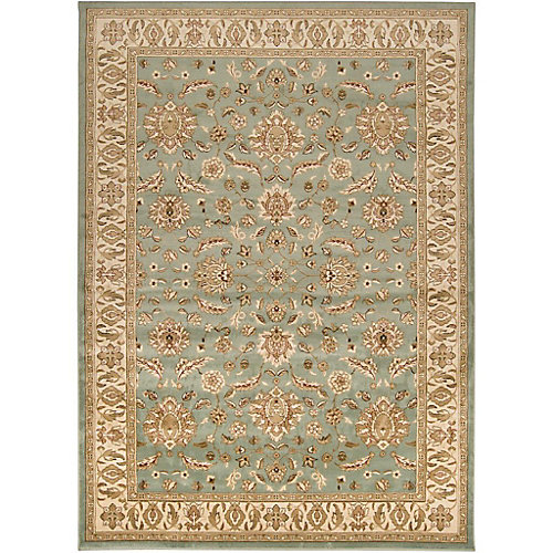 Zonza Blue 7 ft. 9-inch x 11 ft. 2-inch Indoor Transitional Rectangular Area Rug