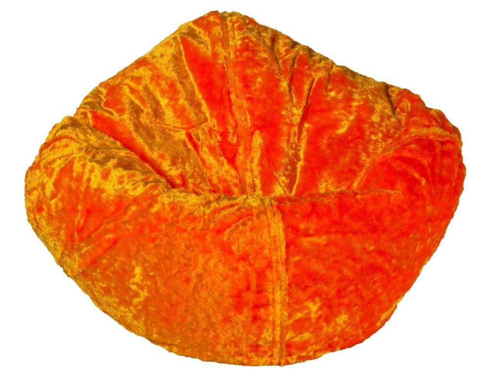Tangerine Chenille Bean Bag - 96 Inch