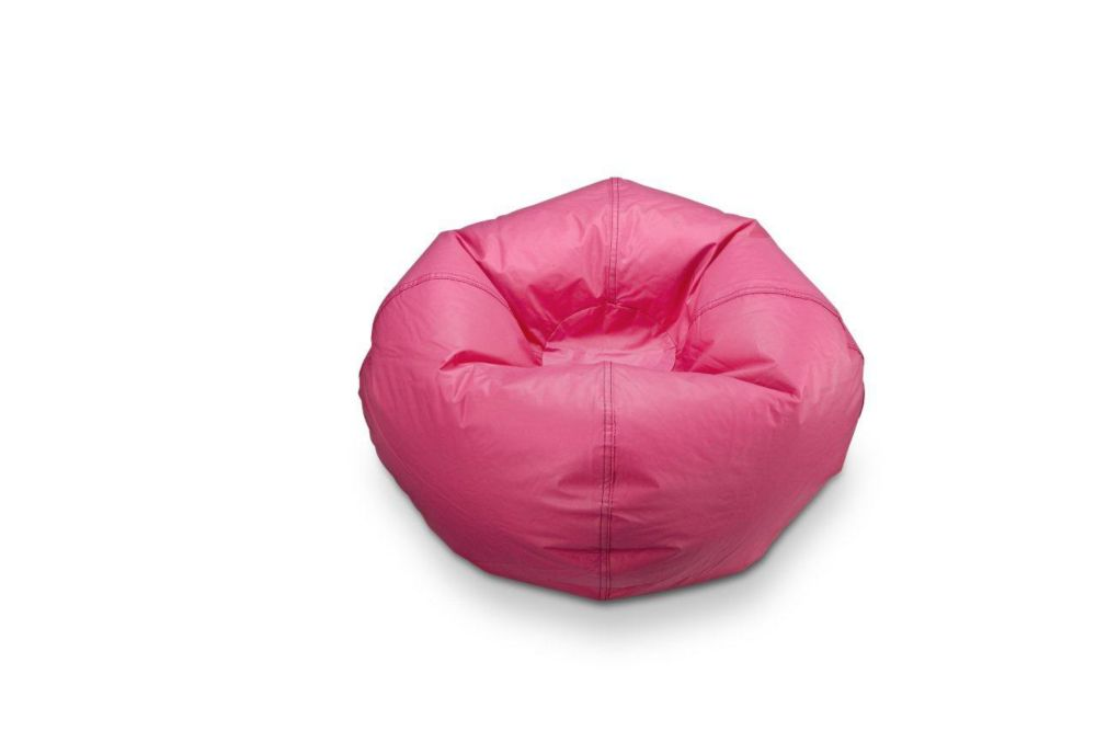 96 Inch Bean Bag Chair In Matte Fuchsia Petal