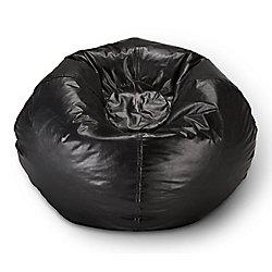 Ace Casual Furniture 98-inch Bean Bag Chair in Matte Black
