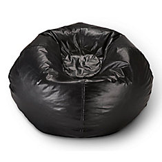 98-inch Bean Bag Chair in Matte Black