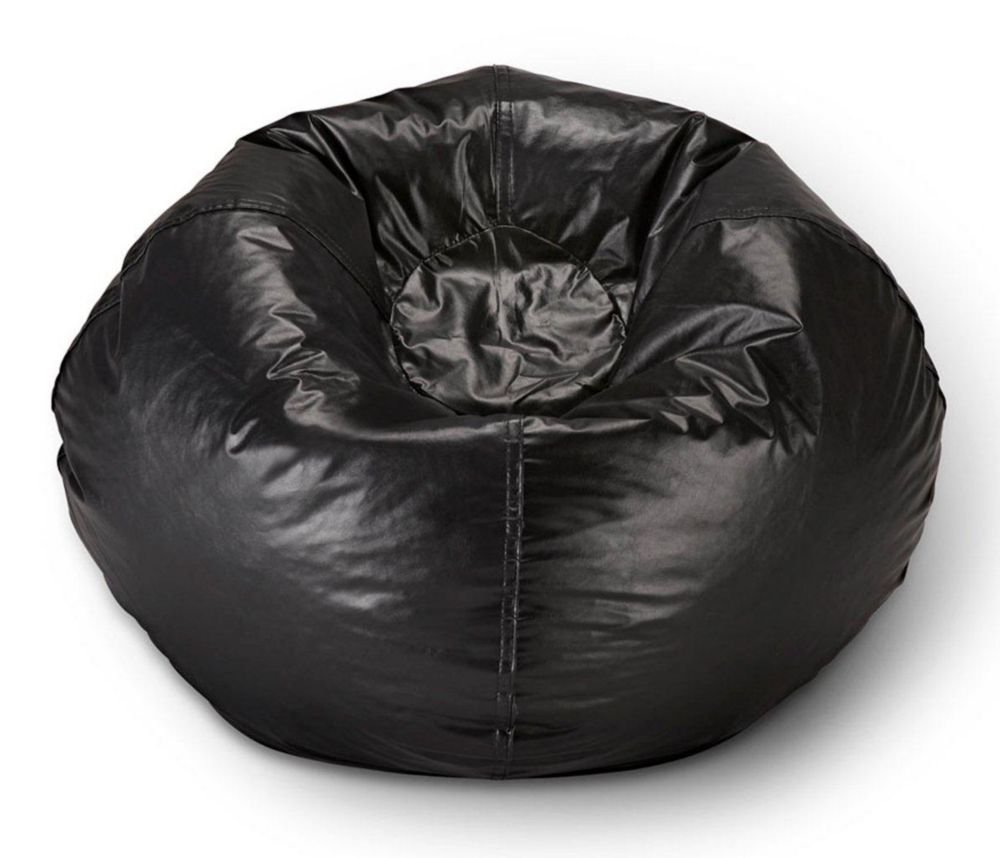 98 Inch Bean Bag Chair In Matte Black