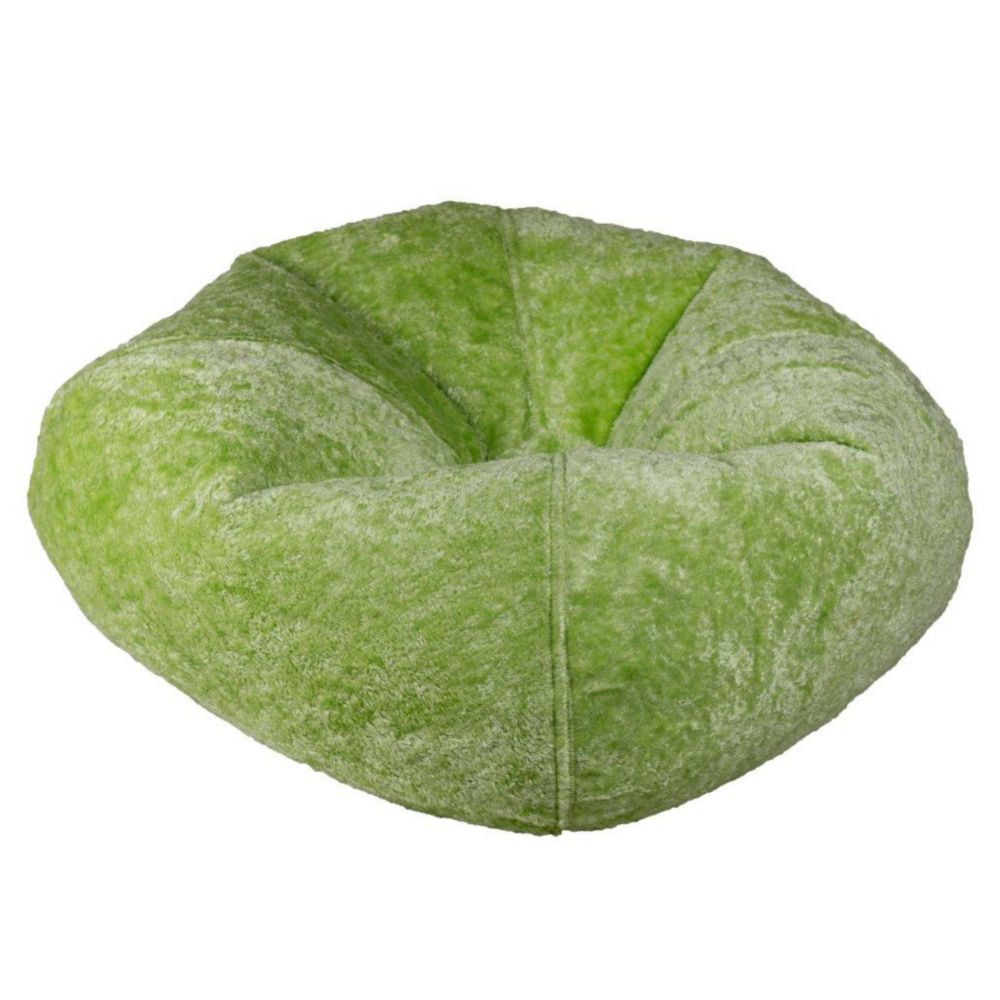 Lime Chenille Bean Bag - 98 Inch
