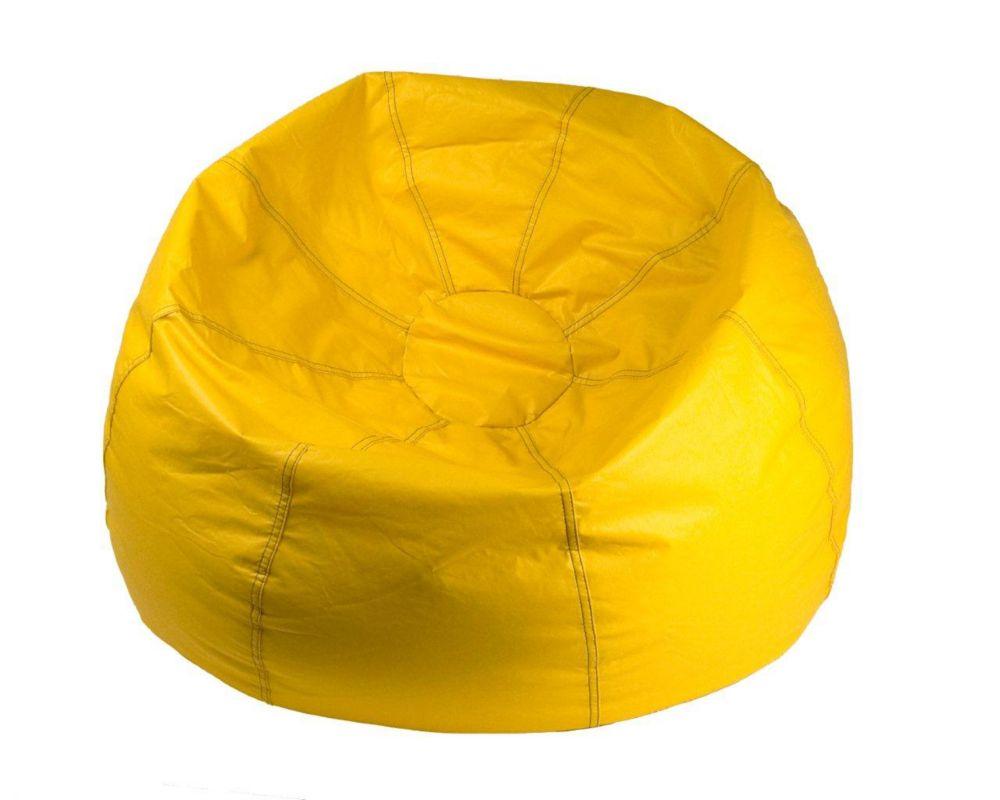 Fauteuil poire géant, jaune - 132 pouces