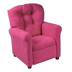 Ace Casual Furniture Racy Pink Microfiber Traditional Juvenile Recliner