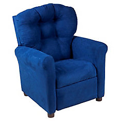 Fauteuil inclinable traditionnel pour adolescent en microfibre, essence indigo