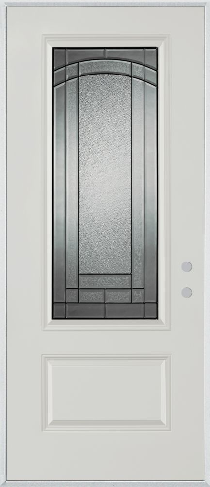 3/4 Lite 1-Panel Painted Steel Entry Door