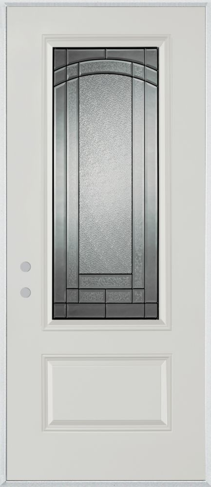 Chatham 3/4-Lite 1-Panel Painted Steel Entry Door