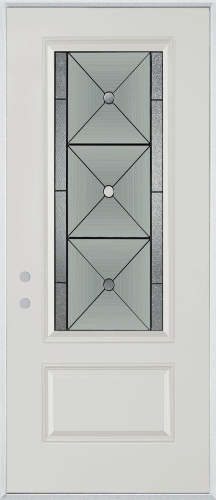 Bellochio 3/4-Lite 1-Panel Painted Steel Entry Door
