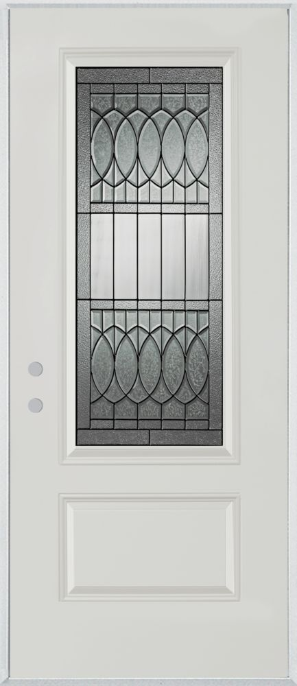 Nightingale 3/4-Lite 1-Panel Painted Steel Entry Door