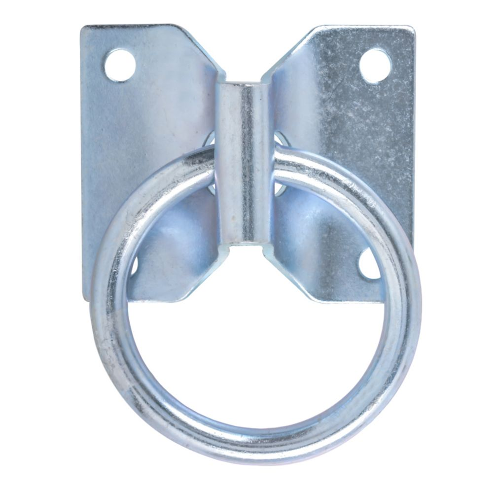 2 Inch  Zinc Hitching Ring W/Plate