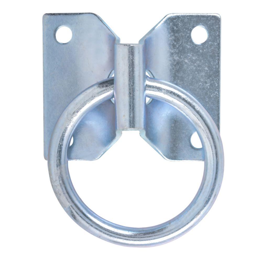 Everbilt 2 Inch  Zinc Hitching Ring W/Plate