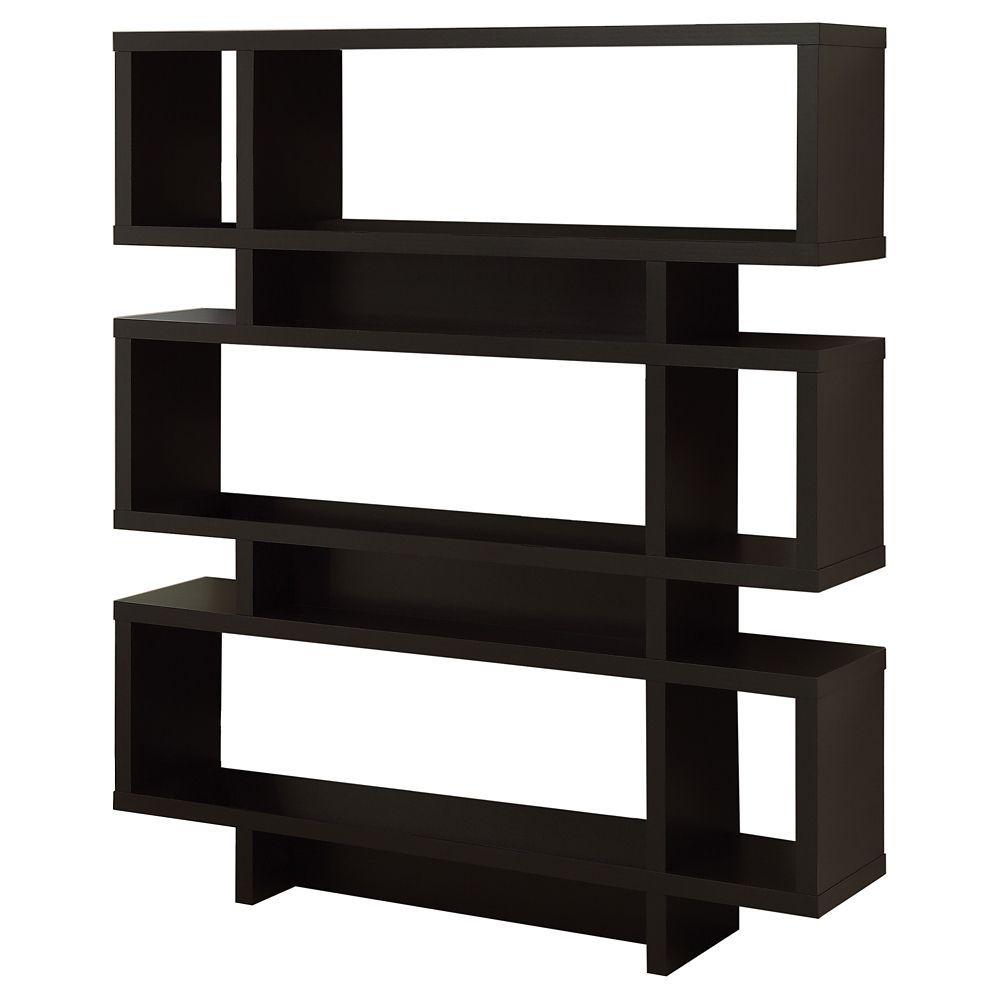 """Etagere - 55""""H / Style Moderne Cappuccino"""