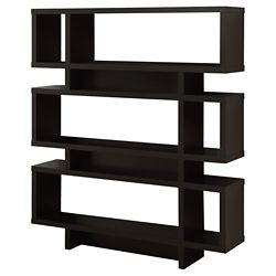 Monarch Specialties 47.25-inch x 54.5-inch x 11.75-inch 3-Shelf Manufactured Wood Bookcase in Brown