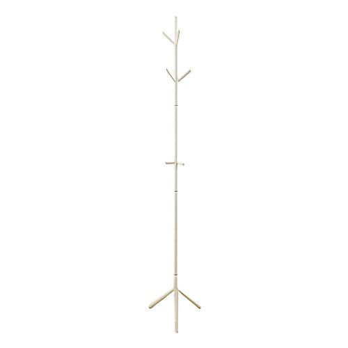 69-inch H Contemporary Wood Coat Rack in White