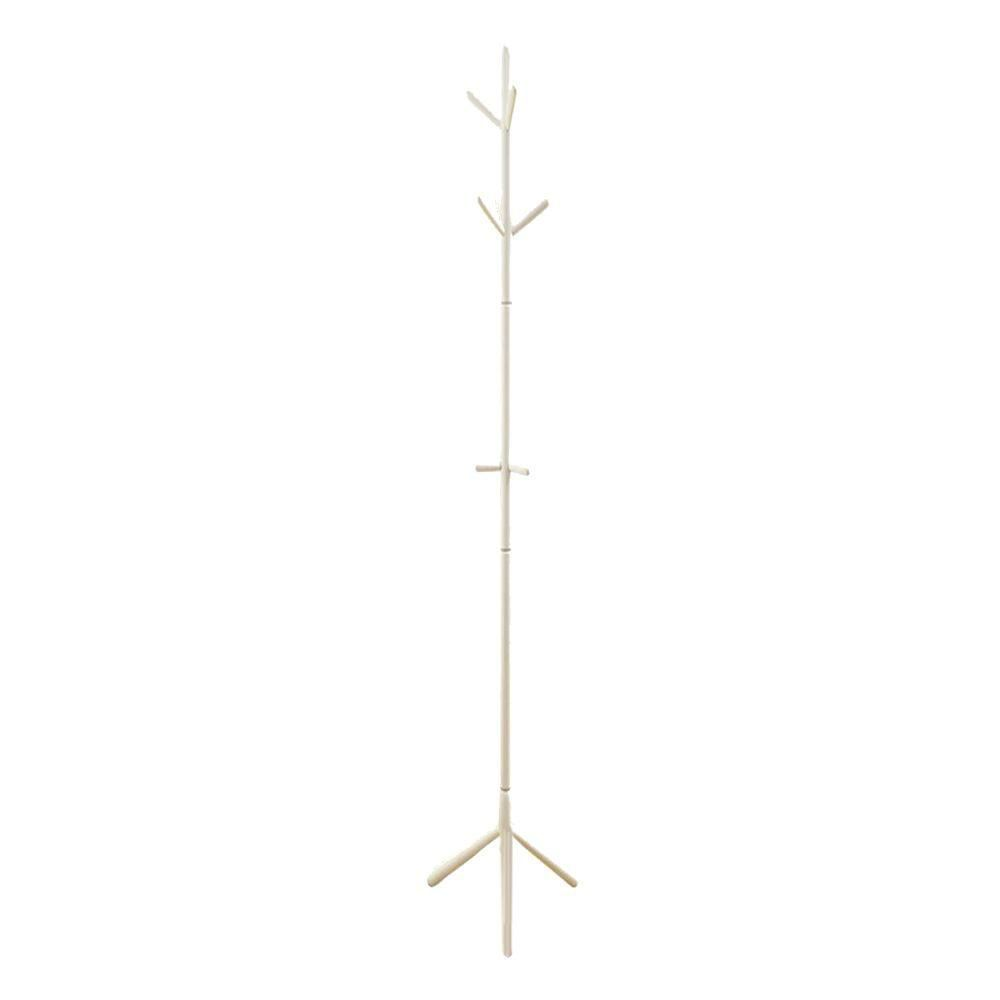 Monarch Specialties 69-inch H Contemporary Wood Coat Rack in White