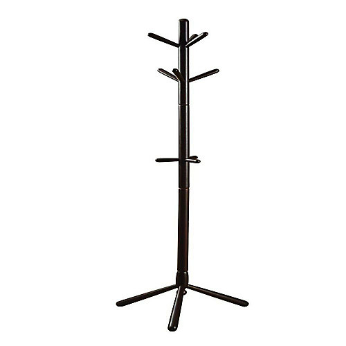 69-inch H Contemporary Wood Coat Rack in Cappuccino
