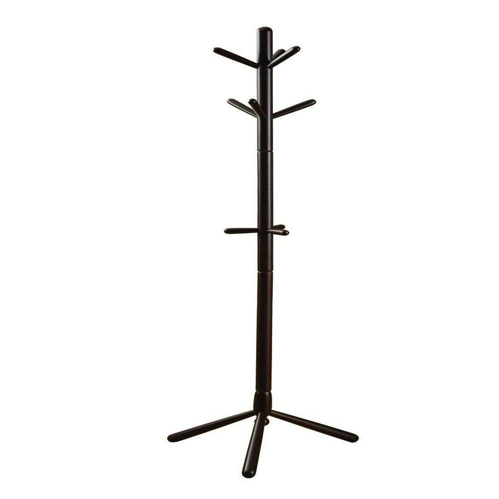 """Coat Rack - 69""""H / Cappuccino Wood Contemporary Style"""