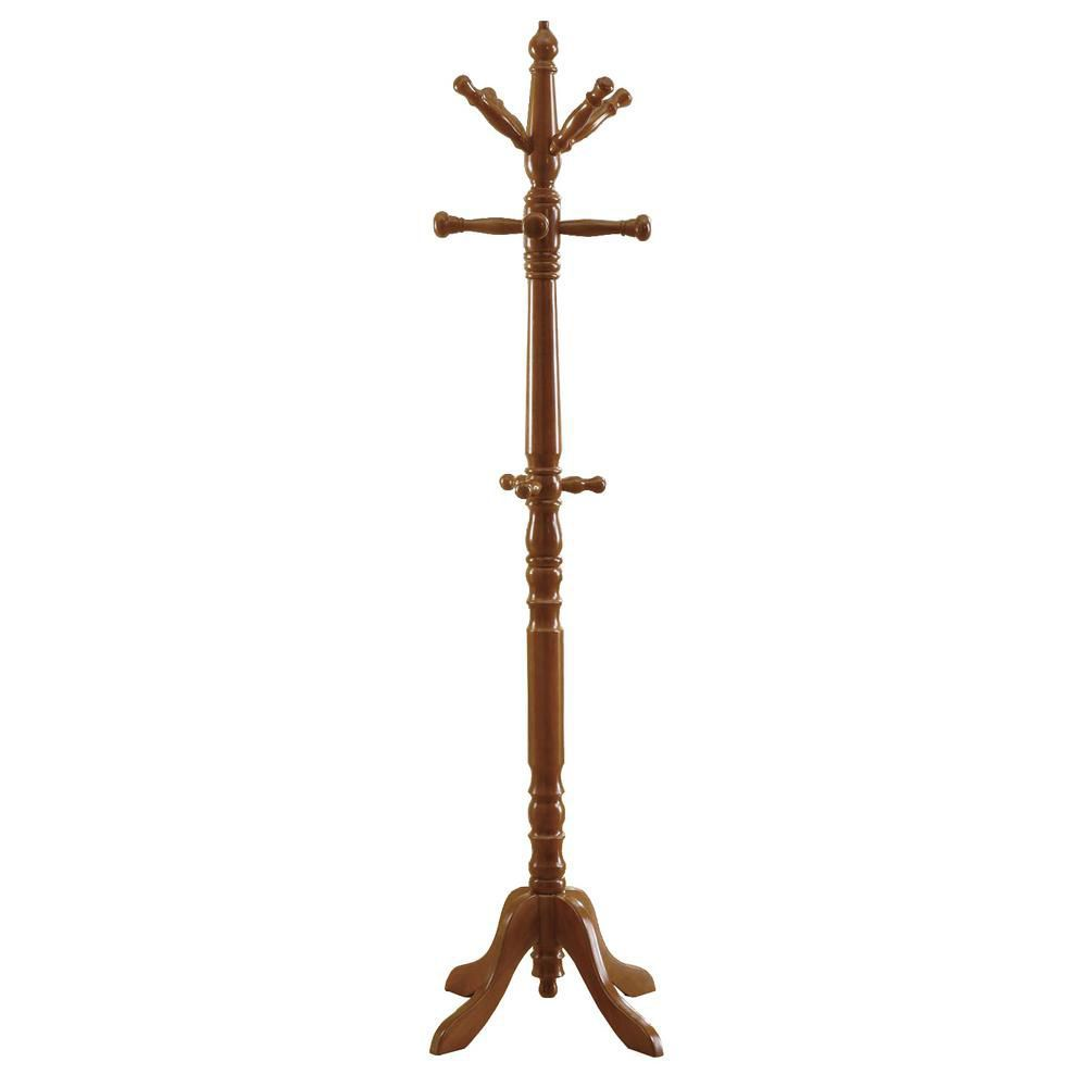 "Patere - 73""H / Traditionnelle Bois Massif Chene"