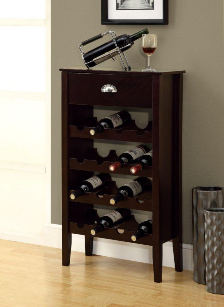 Monarch Specialties Wine Rack Cappuccino Storage For 16