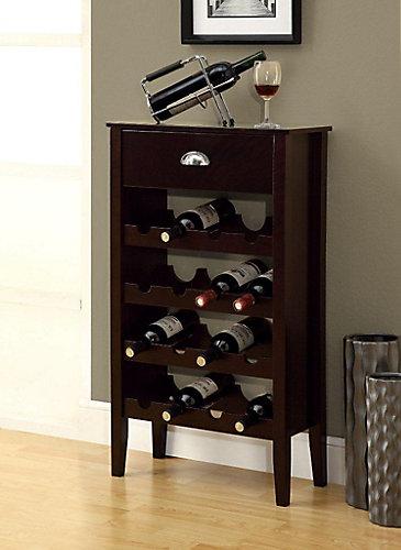 Monarch Specialties Rack A Vin - Cappuccino / 16 Bouteilles | Home ...