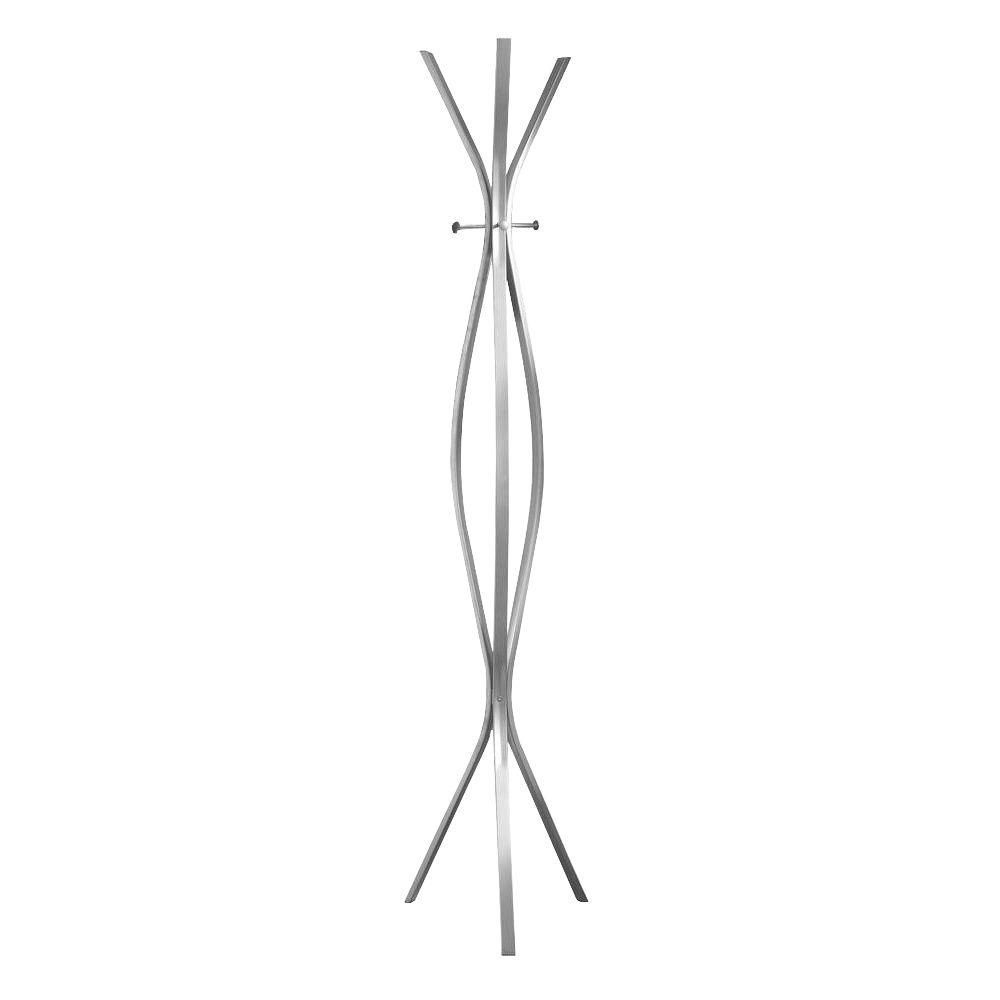 """Coat Rack - 72""""H / Silver Metal Contemporary Style"""