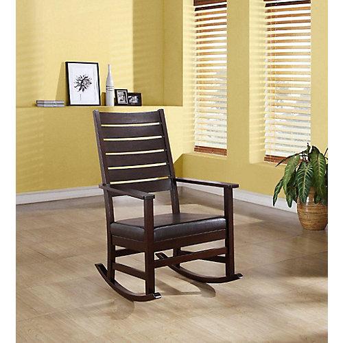 "Rocking Chair - 43""H / Cappuccino Slat Back"