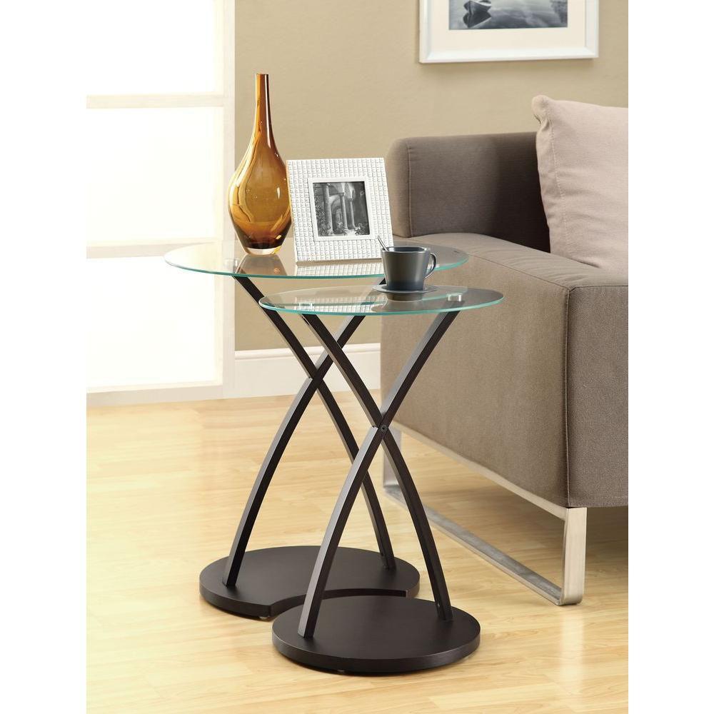 Tables Gigognes - Ens. 2Pcs / Cappuccino Bentwood