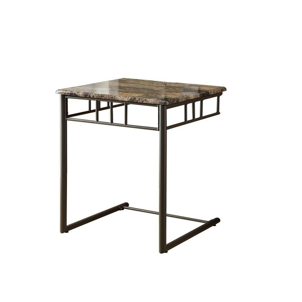 Accent Table - Cappuccino Marble / Bronze Metal I 3043 Canada Discount