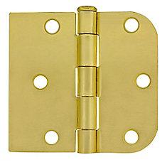 3-inch x 3 3/16-inch Satin Brass Door Hinge