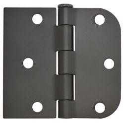 Everbilt 3-inch x 3 3/16-inch Iron Black Door Hinge (2-Pack)