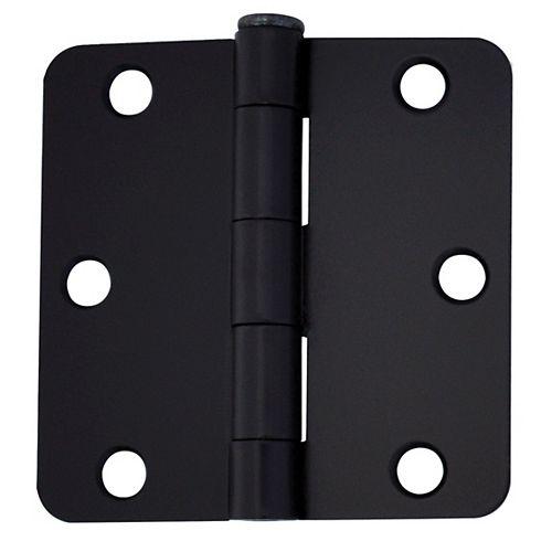 """Everbilt Charnières de porte (Ry 1/4 po) 3"""" fer noir 2MCX"""
