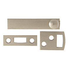 2-1/2 Inch  Satin Nickel Surface Bolt