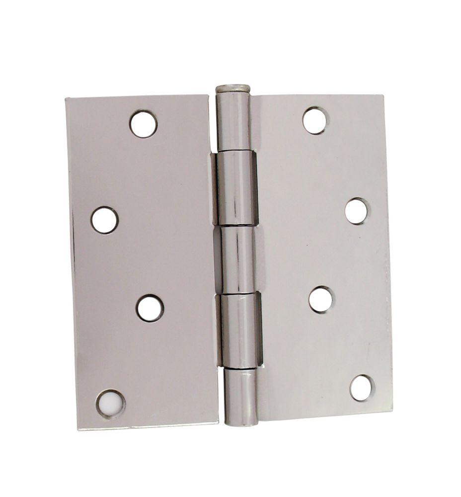 4-inch Bright Nickel Door Hinge (2 Pack)