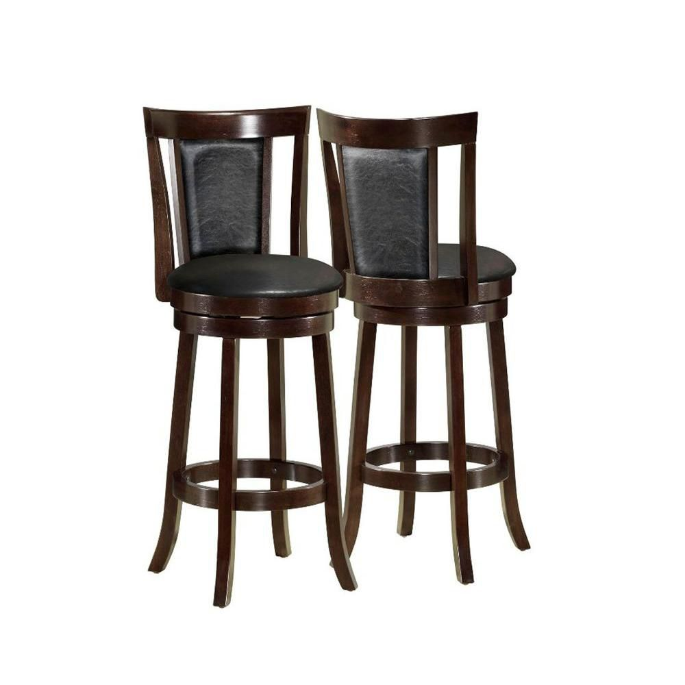 monarch specialties tabouret de bar 2pcs 43 h pivotant cappuccino home depot canada. Black Bedroom Furniture Sets. Home Design Ideas