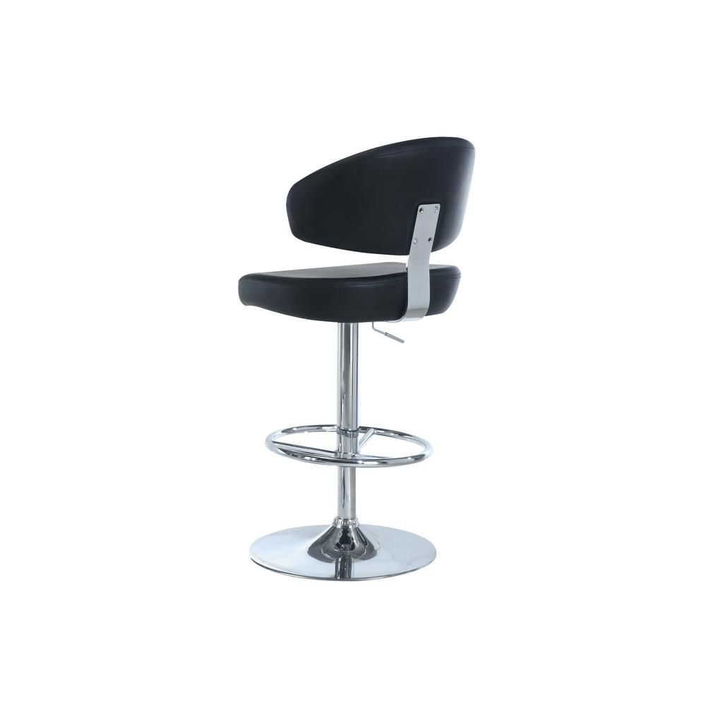 Barstool black chrome metal hydraulic lift i 2362 for Affordable furniture canada