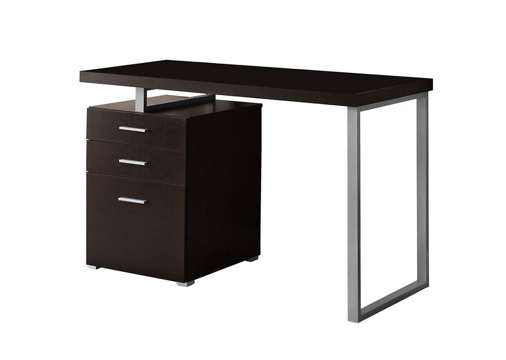 "Computer Desk - 48""L / Cappuccino Left Or Right Facing"