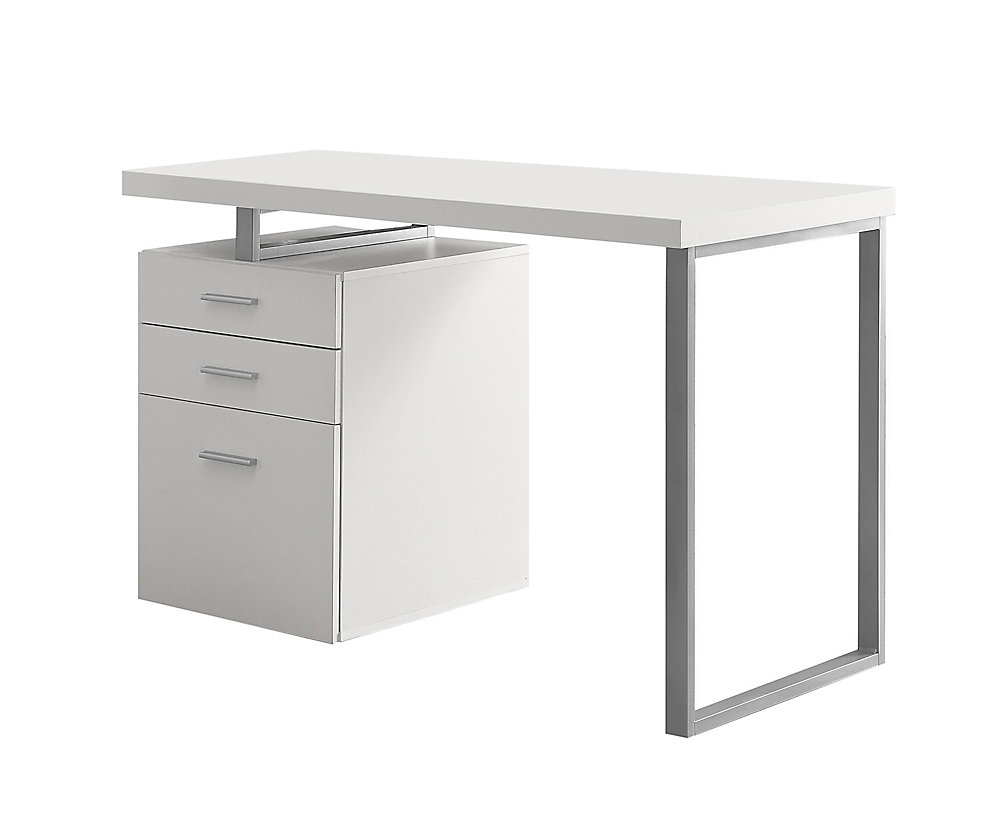 Fabulous Computer Desk 48 Inch L White Left Or Right Facing Best Image Libraries Sapebelowcountryjoecom