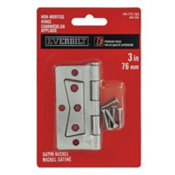 "Everbilt Charnière en applique 3"" nickel satiné"