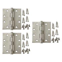 Everbilt 4-1/2 Inch X4 Inch Satin Nickel Comm Hinge (3-Pack)