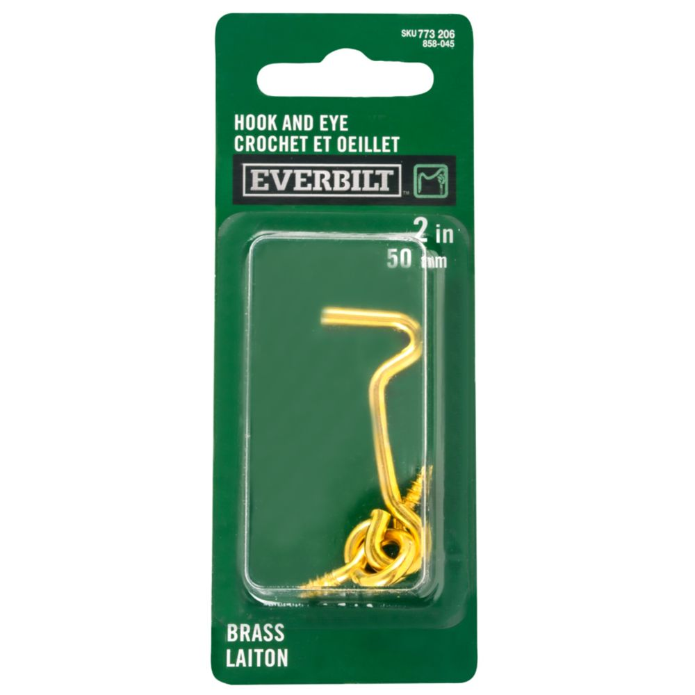 2 Inch  Brass Hook & Eye