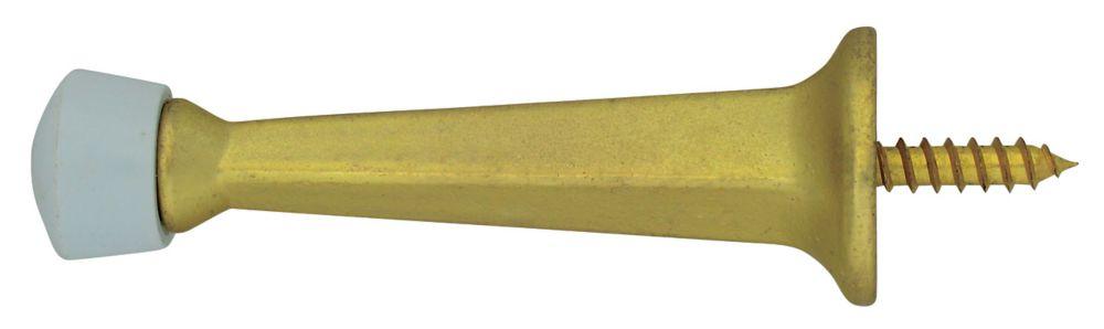 3 Inch  Satin Brass Solid Door Stop